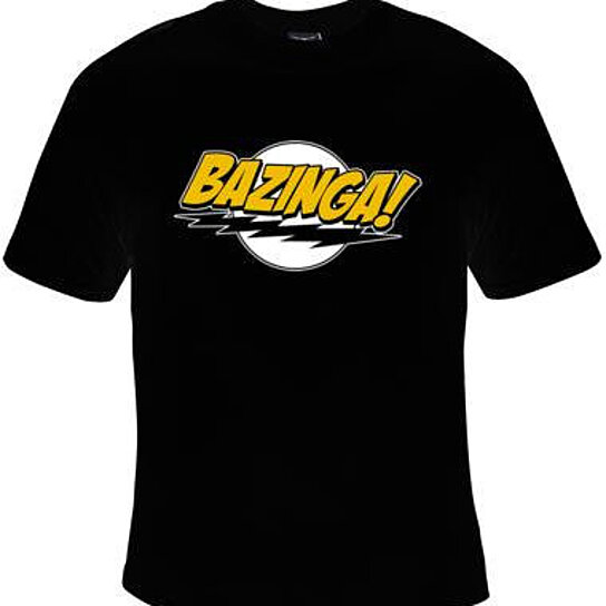 Buy tshirt bazinga logo gift tee t shirts cool funny for Where to order shirts with logos