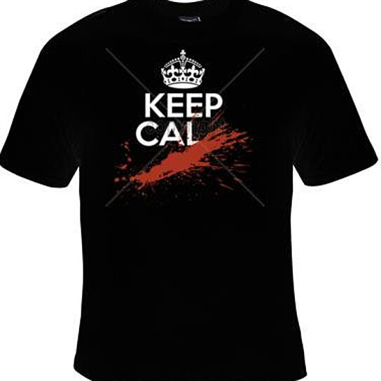 Buy tshirt keep cal screen print cool funny humorous for Graphic designs for t shirts