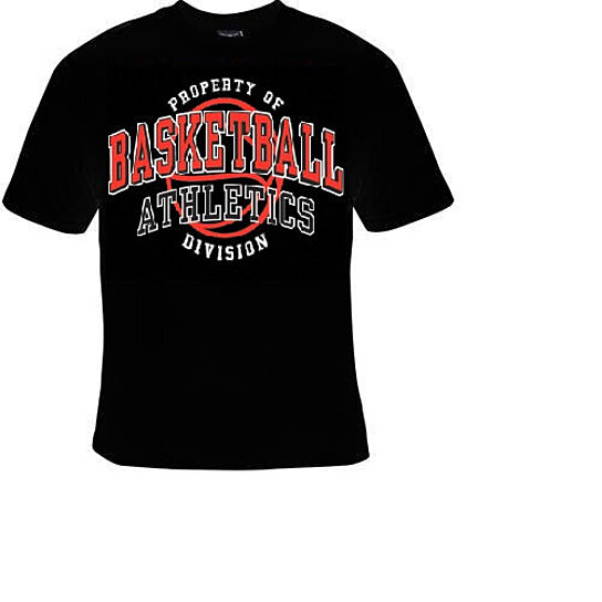 Buy tshirt property of basketball athletics divison for Cool sports t shirt designs