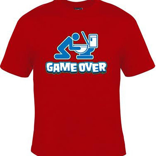 Buy Tshirts Game Over Unique Cool Funny Humorous Clothes