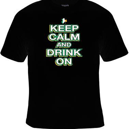 Buy tshirts keep calm and drink on irish logo screen for Shirts with logo print
