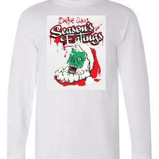Buy tshirts santa zombies unisex long sleeved shirts cool for Cool long sleeve t shirts