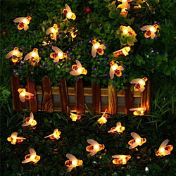 20 LED Honey Bee Fairy String Lights