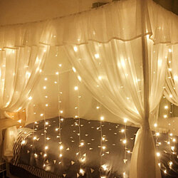 Curtain String Light Romantic Christmas Wedding Outdoor Decoration 9.84x9.84ft /3Mx3M 304-LED Light