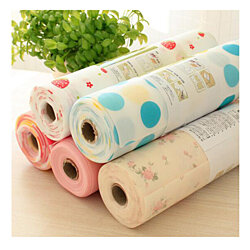 Dots Pattern Non-Adhesive Shelf Paper Drawer Liner Sets
