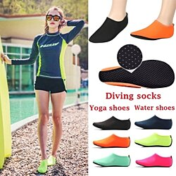 Unisex Non-slip Socks Yoga Shoes Socks for Scuba Diving, Snorkeling, Swimming & All Water Sports