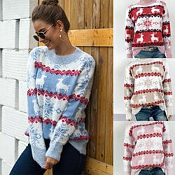 New Arrival Fluffy Christmas Sweater