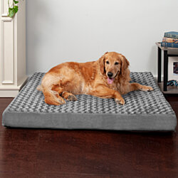 FurHaven Pet Dog Bed | Deluxe Orthopedic Ultra Plush Mattress Pet Bed for Dogs & Cats - Available in Multiple Colors & Sizes