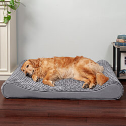 FurHaven Pet Dog Bed | Orthopedic Ultra Plush Luxe Lounger Pet Bed for Dogs & Cats - Available in Multiple Colors & Sizes