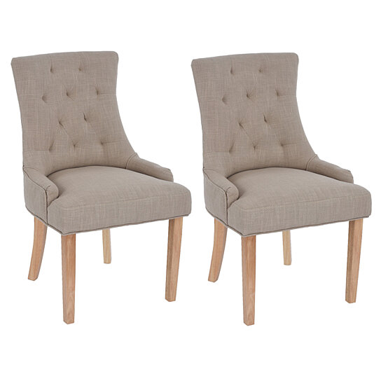 Accent Chair Tufted Dining Chairs Living Room Side Chairs Set of 2