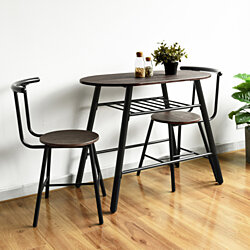 Breakfast Table Chairs Set Bistro Dining Table Chairs Set Kitchen Furniture Set of 3