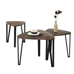 Coffee Table Nesting End Side Tables Living Room End Tables Set of 3