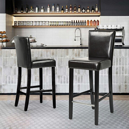 Kitchen Chair Dining Bar Chairs High Legs Chairs for Dinner Set of 2
