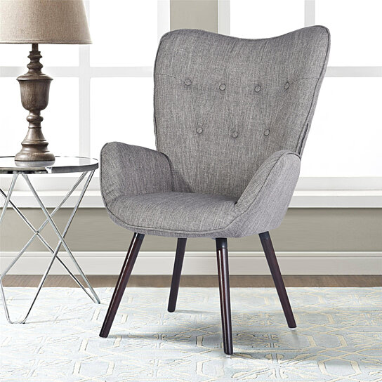 Side Chair Living Room Armchair Accent Chair Wing Chair Button Tufted
