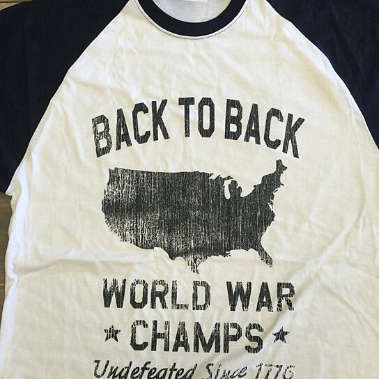 e2a3782e Buy Back To Back World War Champs Undefeated Since 1776 Baseball Tee by  FuunyTees4Everyone on OpenSky