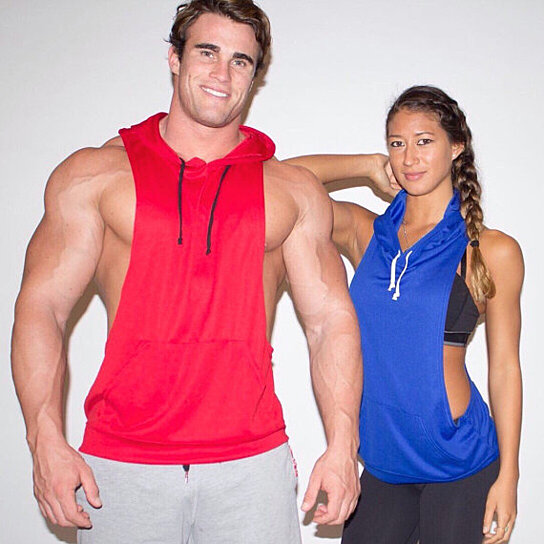 3b26f7a5c Trending product! This item has been added to cart 58 times in the last 24  hours. Men's Dryfit Polyester Racerback Muscle Hoodie Stringer
