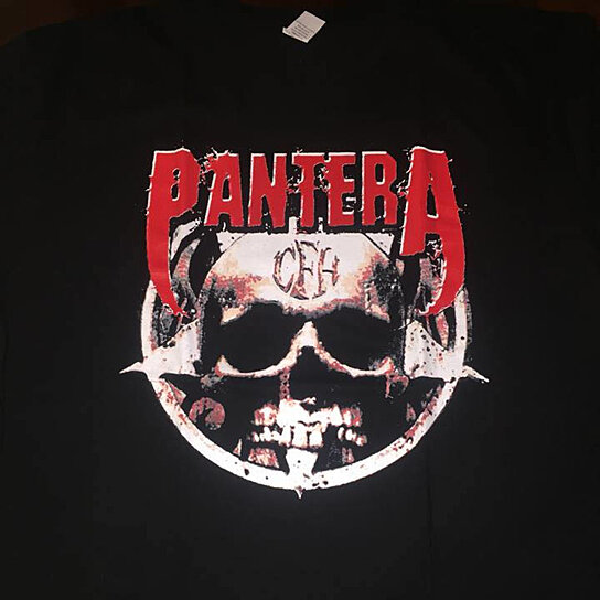 buy pantera cowboys from hell skull forehead logo shirt by