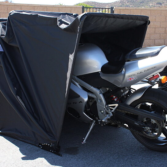 Buy Retractable Motorcycle Cover Shelter Drive In