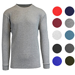 Men's Long Sleeve Waffle-Knit Thermal Shirts