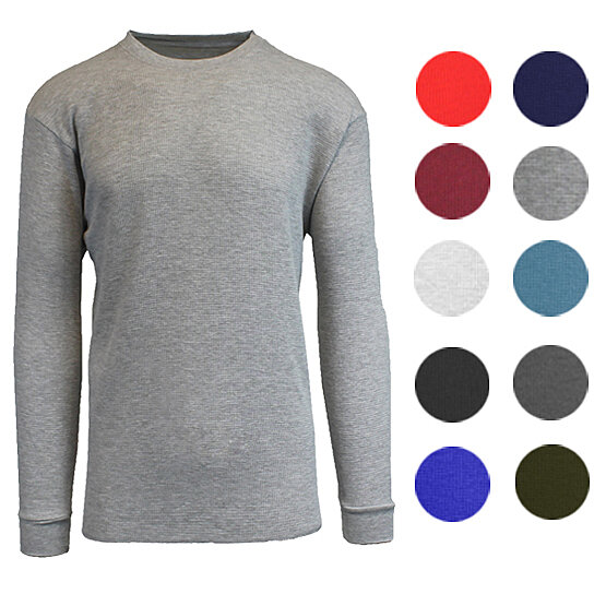 b6ecd02176f9 Trending product! This item has been added to cart 26 times in the last 24  hours. Men s Long Sleeve Waffle-Knit Thermal Shirts