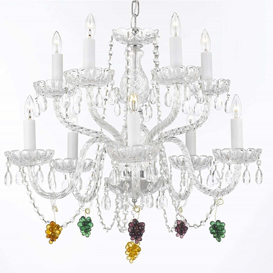 Buy Crystal Chandelier Dressed With Multi Color Fruit