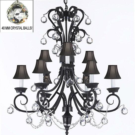 Foyer Chandelier Wrought Iron : Buy foyer entryway wrought iron crystal chandelier