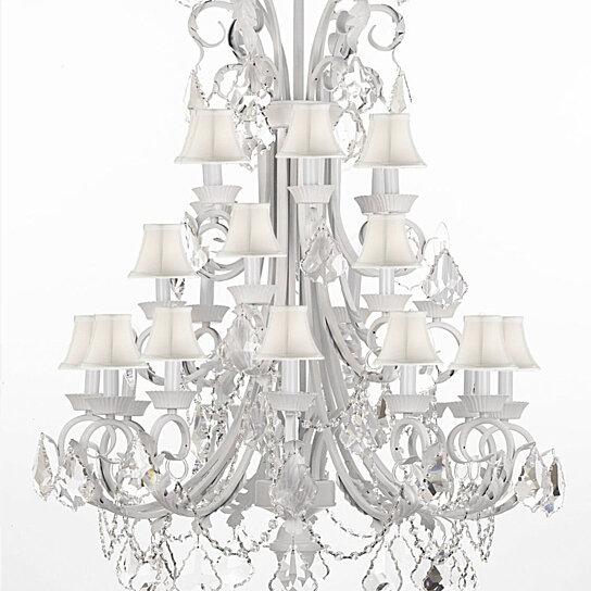 Buy Foyer Chandelier : Buy large foyer entryway white wrought iron chandelier