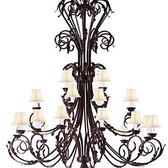 Tall Foyer Lighting : Buy large foyer entryway wrought iron chandelier