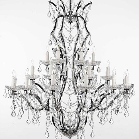 Buy Swarovski Crystal Trimmed Chandelier Th C Rococo Iron Crystal Chandelier Lighting H