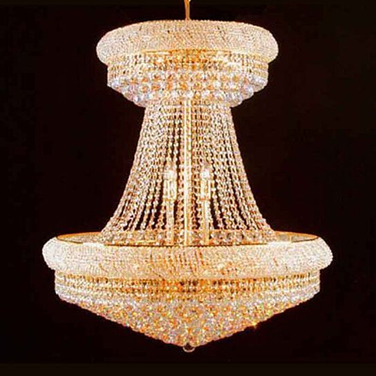 Buy Swarovski Crystal Trimmed Chandelier 36 Large Lead Crystal Gold Chandelier Palace Hallway