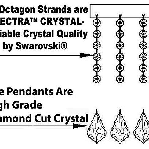 Swarovski Crystal Trimmed Chandelierfrench Empire Crystal