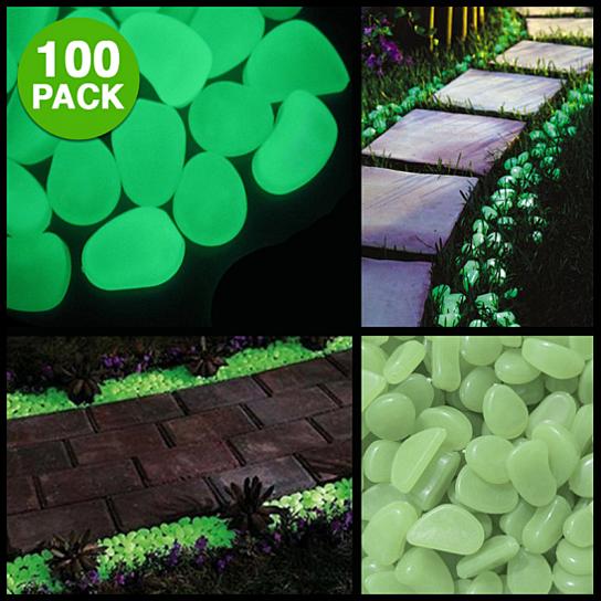 Buy 100 pack glow in the dark garden pebbles by gearxs on opensky for Glow in the dark garden pebbles