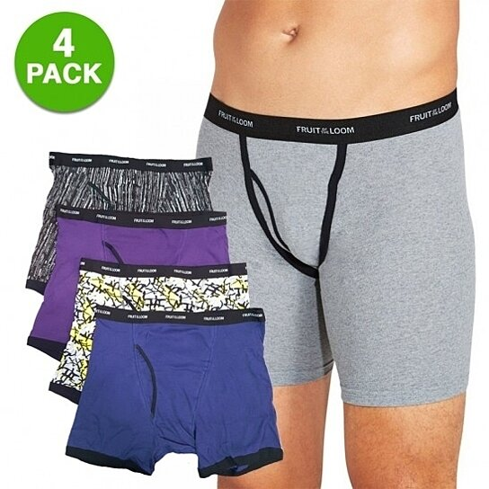 buy 4 pack fruit of the loom 100 cotton men 39 s boxer briefs by gearxs on opensky. Black Bedroom Furniture Sets. Home Design Ideas