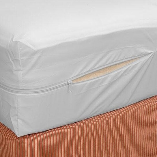 Buy Home Collections Zippered Fabric Mattress Cover