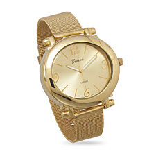 Gold Tone Mesh Fashion Watch