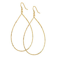 14k gold over sterling silver hoop earrings