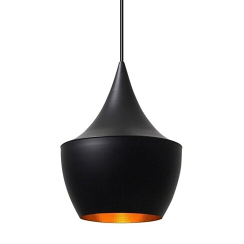 Jayda Fat Pendant Lamp, Black