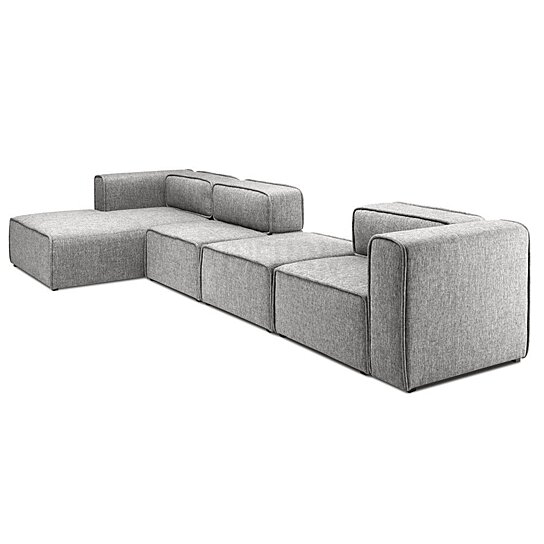 L-Shaped 3 Seater Left Sectional Chaise Modern Sofa Björn