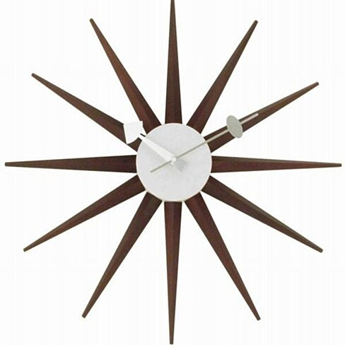 Sunburst Clock, Walnut