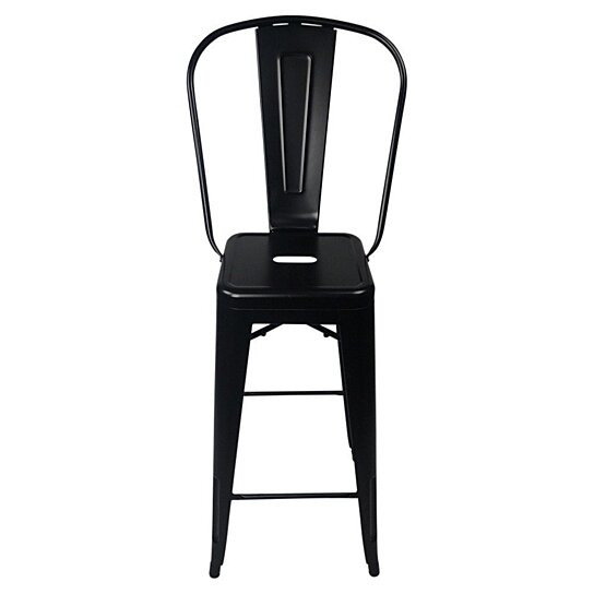 Surprising Tolix Style Bar Stool High Back Chair Gmtry Best Dining Table And Chair Ideas Images Gmtryco