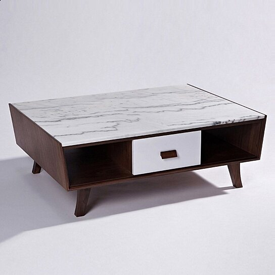 Vera Wood Marble Coffee Table