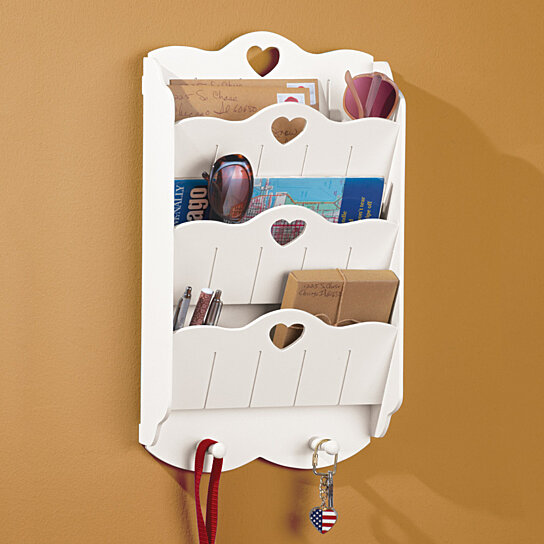 Buy wall mounted mail organizer and key rack by gg outlet on opensky - Wall mounted mail organizer and key rack ...