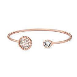 a4412a393e6 Open Circle White Pave Crystal Filled Bangle Bracelet