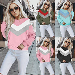 Long Sleeve Color Block Sweater Top