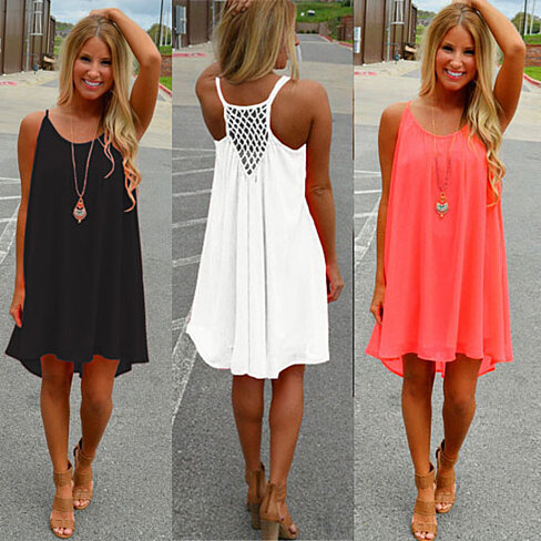 Chiffon Summer Dress in 4 colors