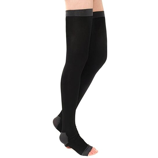 78659f50ae Trending product! This item has been added to cart 11 times in the last 24  hours. Yoga Sleep Thigh-High Compression Toeless Socks