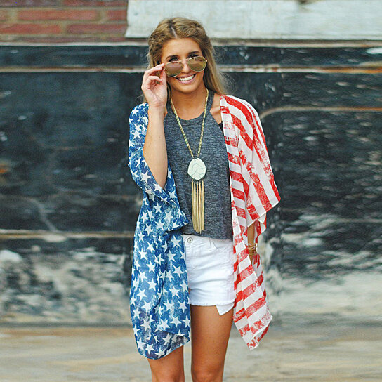 6aaf823de7 Trending product! This item has been added to cart 95 times in the last 24  hours. Summer Swimsuit Beach Wear Kimono Cover Up American Flag Tops  Cardigan