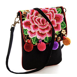 Bohemian Embroidered Flower Crossbody Messenger