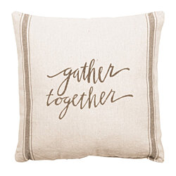 "Charming Accent Throw Pillow. Gather Together. Large 20"" x 20"""
