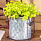 Galvanized Planters in Wire Basket. Choose From 1, 2 or 3 Planter Sets